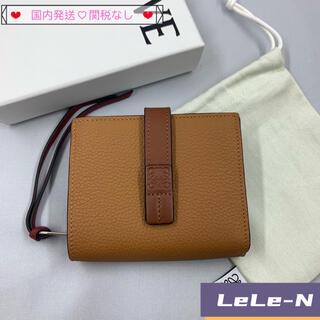 ロエベ(LOEWE)のLOEWE<新品>コンパクトジップ財布 ライトキャラメル(財布)