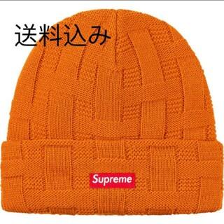シュプリーム(Supreme)のシュプリーム ニット帽 Basket Weave Beanie オレンジ(ニット帽/ビーニー)