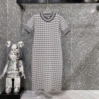 フェンディ(FENDI)のFENDI ホワイトビスコース ドレス (ロングワンピース/マキシワンピース)