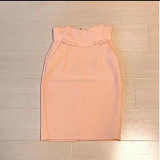 snidel - スナイデル サーモンピンク タイトスカート 膝丈 size0