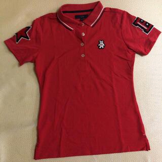 キャロウェイゴルフ(Callaway Golf)のキャロウェイ レディース赤ポロシャツ M size(ウエア)