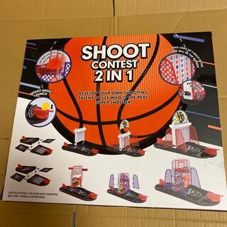 おもしろ雑貨 バスケットボール&コネクトフォーゲーム 自宅内で遊べます!(スポーツ)