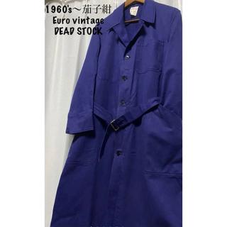 ダブルアールエル(RRL)の1960s〜茄子紺 DEAD STOCK Euro vintage French(ステンカラーコート)