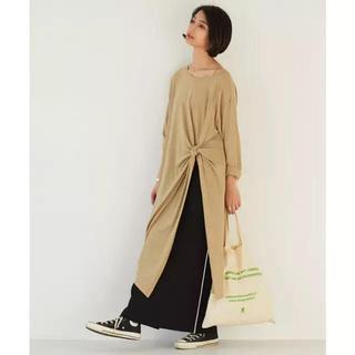 ガリャルダガランテ(GALLARDA GALANTE)のGALLARDAGALANTE カットドレープTシャツ(カットソー(長袖/七分))
