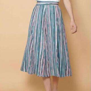 ラグナムーン(LagunaMoon)のラグナムーン ストライプフレアスカート(ひざ丈スカート)