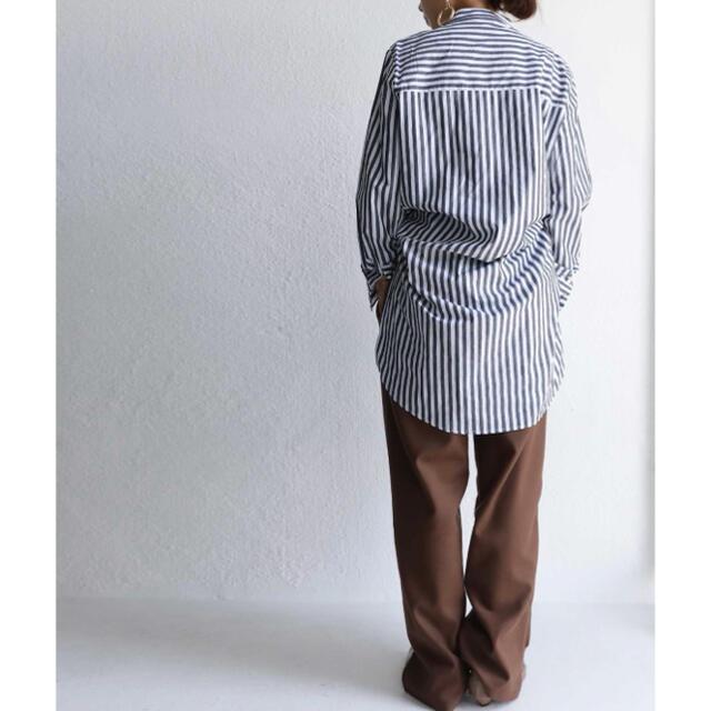 antiqua(アンティカ)のアンティカ antiquaストライプシャツ レディースのトップス(シャツ/ブラウス(長袖/七分))の商品写真