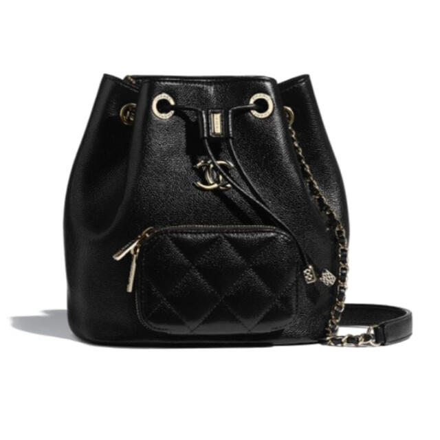 CHANEL(シャネル)のお値下可能❣️シャネル❣️2021春夏プレ❣️巾着ショルダーバッグ❣️ブラック レディースのバッグ(ショルダーバッグ)の商品写真