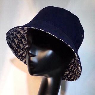 ディオール(Dior)の新品・未使用 DIOR ディオール バケハ バケットハット 帽子  黒 ブラック(ハット)