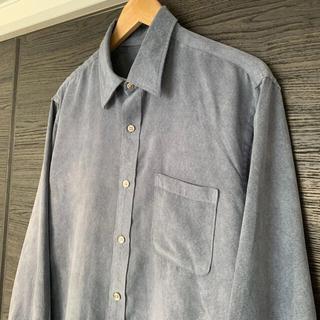 アクネ(ACNE)のVANHUSEN フェイクスウェードシャツ グレー vintage(シャツ)