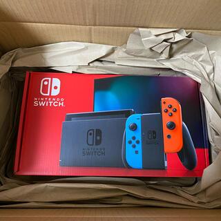 Nintendo Switch - 新品未開封!納品書あり!ニンテンドースイッチ本体 ネオンレッド、ブルーおまけ付き