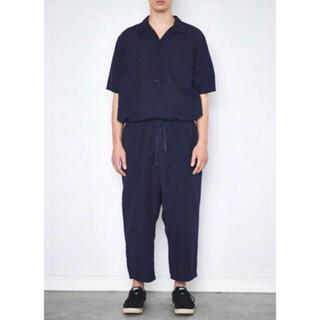 コモリ(COMOLI)のcomoli コモリ ベタシャン 半袖シャツ ネイビー size4(シャツ)
