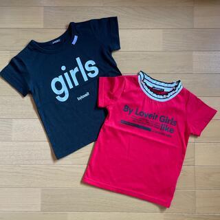 ナルミヤ インターナショナル(NARUMIYA INTERNATIONAL)のby❤︎loveit   半袖Tシャツ 110cm(Tシャツ/カットソー)