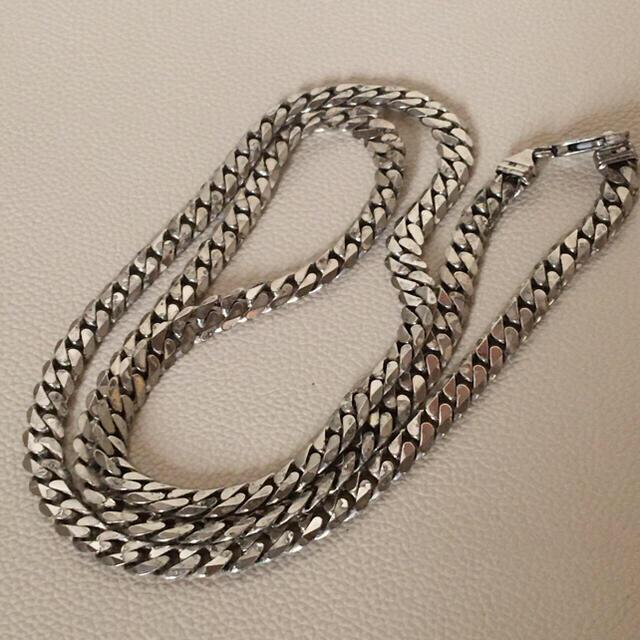 週末セール❗️イタリア製  925シルバー 喜平ロングネックレス  約81cm メンズのアクセサリー(ネックレス)の商品写真
