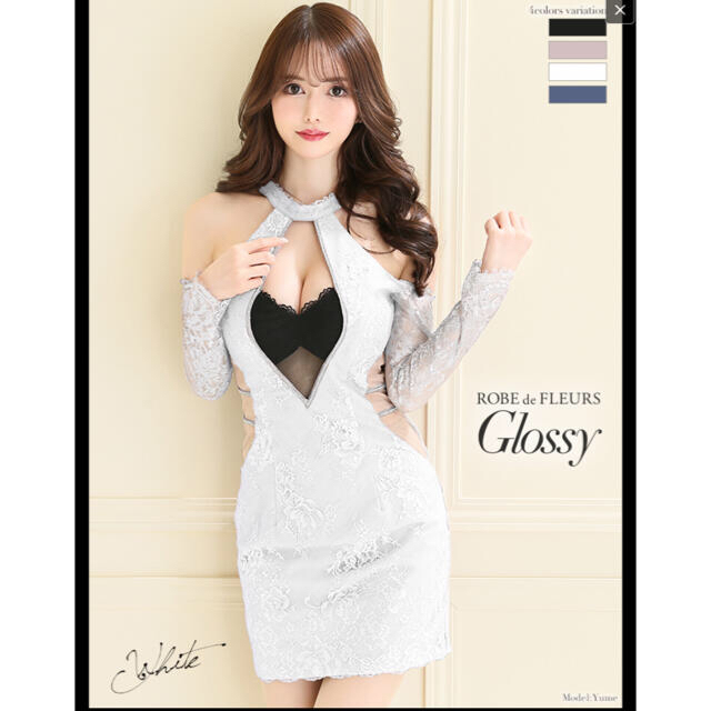 ROBE de FLEURS Glossy/ローブドフルール/GL2147 レディースのフォーマル/ドレス(ミニドレス)の商品写真