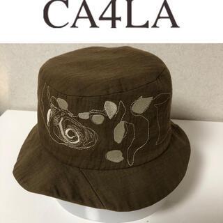 CA4LA - カシラ コットン 刺繍入り帽子