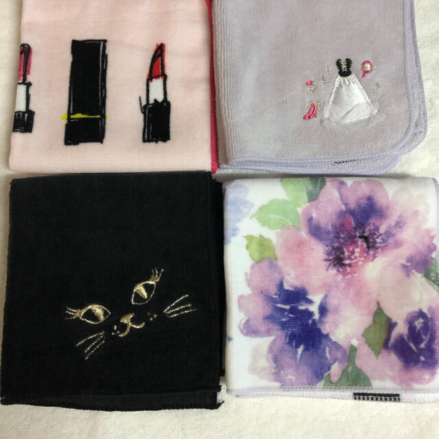 Francfranc(フランフラン)のフランフラン ハンカチ4枚組 新品 レディースのファッション小物(ハンカチ)の商品写真