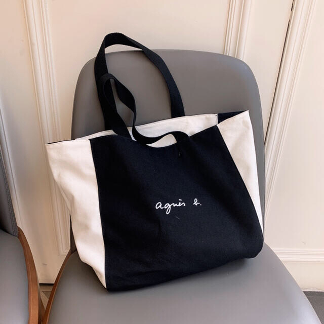 agnes b.(アニエスベー)の【新品】agnes b レディース トートバッグ  リバーシブル仕様 ダグ付け レディースのバッグ(トートバッグ)の商品写真