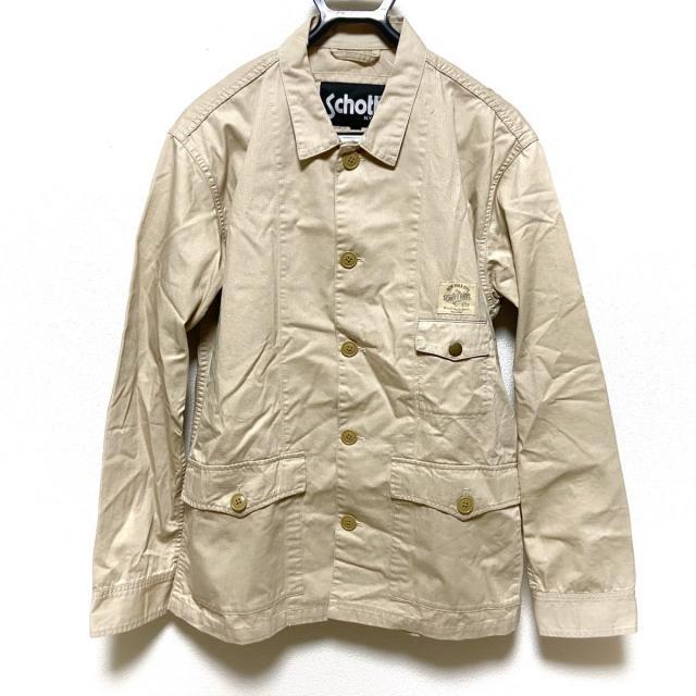 schott(ショット)のショット サイズL メンズ - ベージュ メンズのジャケット/アウター(ブルゾン)の商品写真