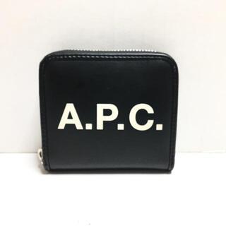 アーペーセー(A.P.C)のアーペーセー - 黒×白 ラウンドファスナー(財布)