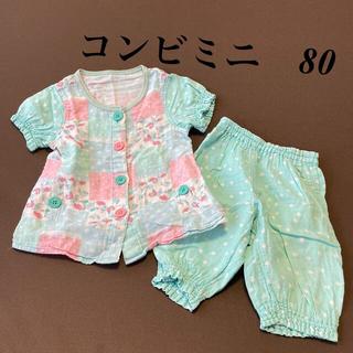 コンビミニ(Combi mini)のコンビミニ 花柄パジャマ 80(パジャマ)
