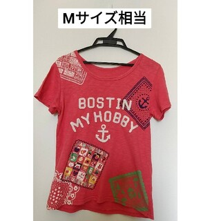 ラフ(rough)のピンク★rough★Tシャツ★Mサイズ相当★(Tシャツ(半袖/袖なし))