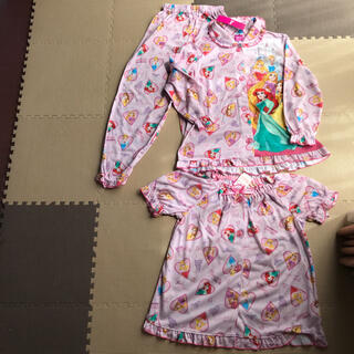 Disney - ディズニー パジャマ ナイトウェア 120 半袖、長袖、ズボン3点セット