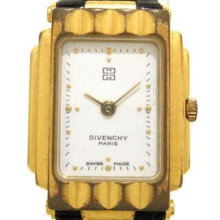 ジバンシィ(GIVENCHY)のGIVENCHY(ジバンシー) - レディース 白(腕時計)
