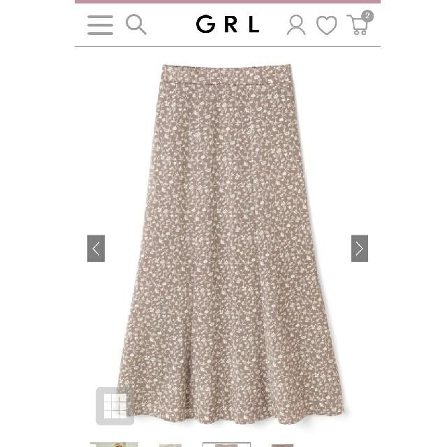 GRL(グレイル)のGRL 小花柄マーメイドスカート[gc20] レディースのスカート(ロングスカート)の商品写真