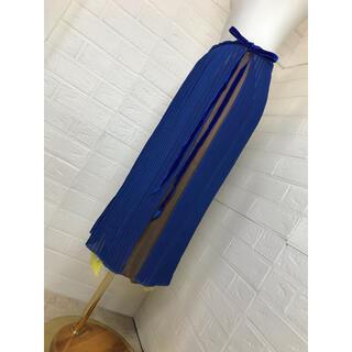 パラビオン(Par Avion)のParAvion 個性的ラッピングプリーツスカート  フリーサイズ(ロングスカート)