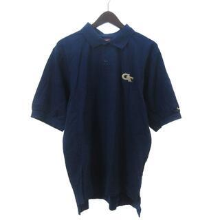 ナイキ(NIKE)のナイキ NIKE ポロシャツ 半袖 鹿の子 刺繍 ネイビー S ECR4(その他)