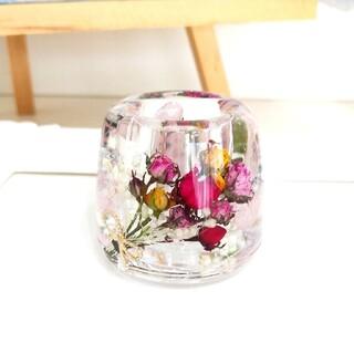 【専用ページ】No.250 ミニ薔薇ブーケin♡固まるハーバリウムペン立て(ドライフラワー)