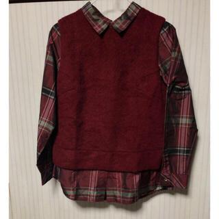 アーバンリサーチロッソ(URBAN RESEARCH ROSSO)のベストつき チェックシャツ(シャツ/ブラウス(長袖/七分))