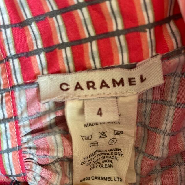 Caramel baby&child (キャラメルベビー&チャイルド)のcaramel エプロンワンピース 4Y スカート キッズ/ベビー/マタニティのキッズ服女の子用(90cm~)(ワンピース)の商品写真