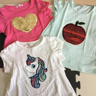 エニィファム(anyFAM)のスパンコール半袖シャツ3枚セット(Tシャツ/カットソー)