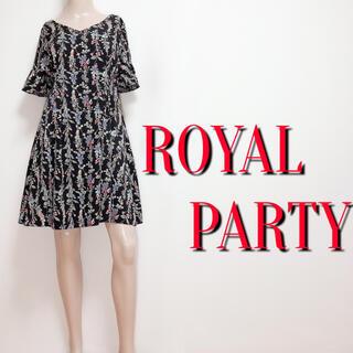 ROYAL PARTY - 大人の♪ロイヤルパーティー フレアタッグワンピース♡デュラス エムズグレイシー