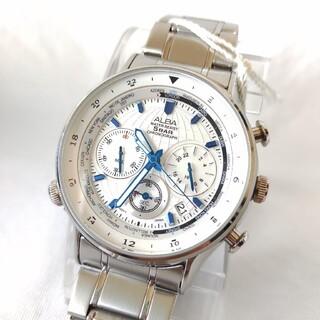 アルバ(ALBA)のセイコーSEIKOアルバalbaメンズステンレスクオーツクロノグラフ腕時計(腕時計(アナログ))