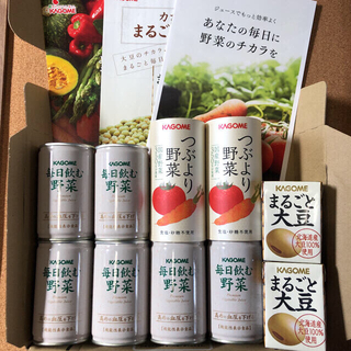 KAGOME - カゴメ  毎日飲む野菜6本 & つぶより野菜2本 & まるごと大豆2パック
