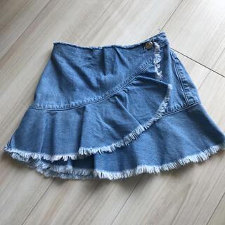 ザラ(ZARA)の巻きスカート風デニムスカート128(スカート)