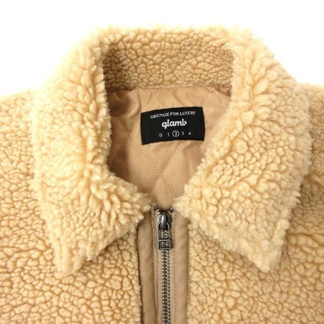 glamb(グラム)のグラム フリース ボア 中綿 ジャケット 2 ベージュ メンズのジャケット/アウター(その他)の商品写真