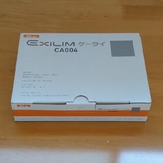 カシオ(CASIO)のau 3Gガラケー カシオ CA004 EXILIM 白ロム 新品未使用(携帯電話本体)