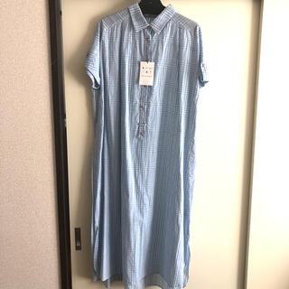 クチュールブローチ(Couture Brooch)の半袖チェックワンピース(ロングワンピース/マキシワンピース)