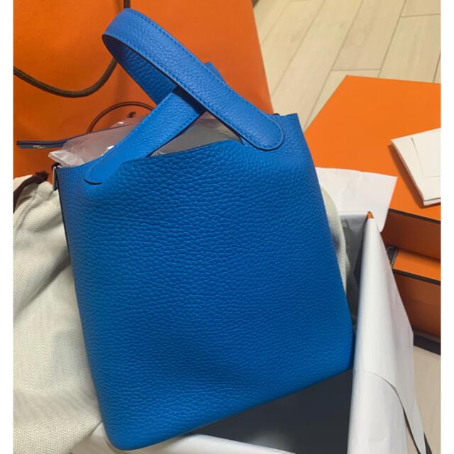 Hermes(エルメス)の新品!HERMES ピコタン  pm ピコタン ロック ブルーフリーダ レディースのバッグ(ハンドバッグ)の商品写真