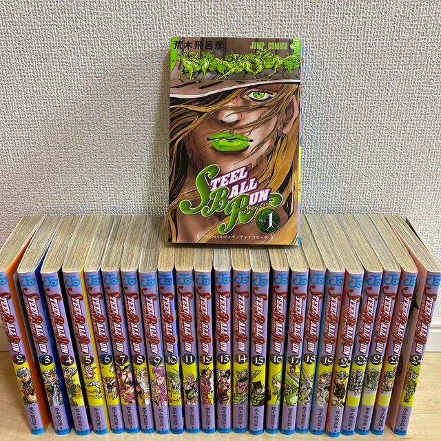 集英社(シュウエイシャ)のジョジョの奇妙な冒険STEELBALLRUN 7部全巻 エンタメ/ホビーの漫画(全巻セット)の商品写真