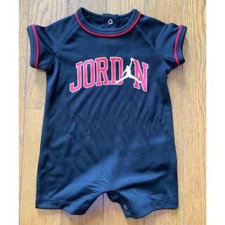 ナイキ(NIKE)の【新品未使用】 Nike Jordan ジョーダン ロンパース  3ヶ月用 黒(ロンパース)