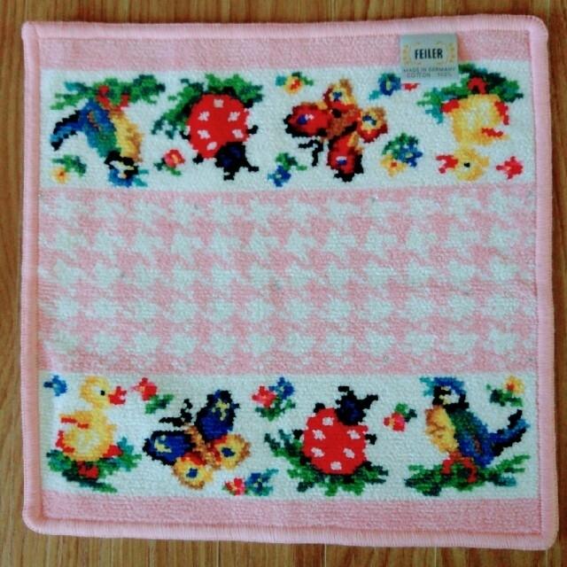 FEILER(フェイラー)のフェイラー ハイジ 千鳥 ピンク ハンカチ&巾着 セット レディースのファッション小物(ハンカチ)の商品写真