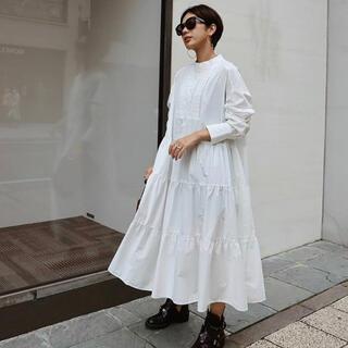 Drawer - Machatt タキシードシャツドレス ホワイト