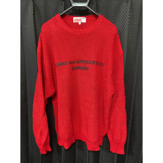 Supreme - Supreme Cdg Sweater レッド M