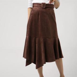 ビーラディエンス(BE RADIANCE)のビーラディエンス スエードスカート マーメイドスカート(ひざ丈スカート)