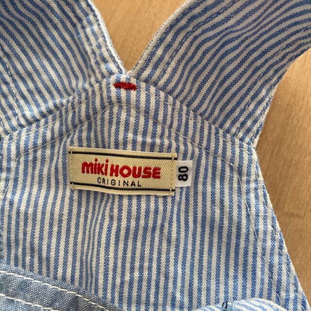 mikihouse(ミキハウス)のサリィ様①ミキハウス 80㎝ サロペット +②80㎝短パン キッズ/ベビー/マタニティのベビー服(~85cm)(ロンパース)の商品写真
