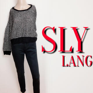 SLY LANG - 必需品♪スライラング ふわふわミックスニット♡リゼクシー デュラス